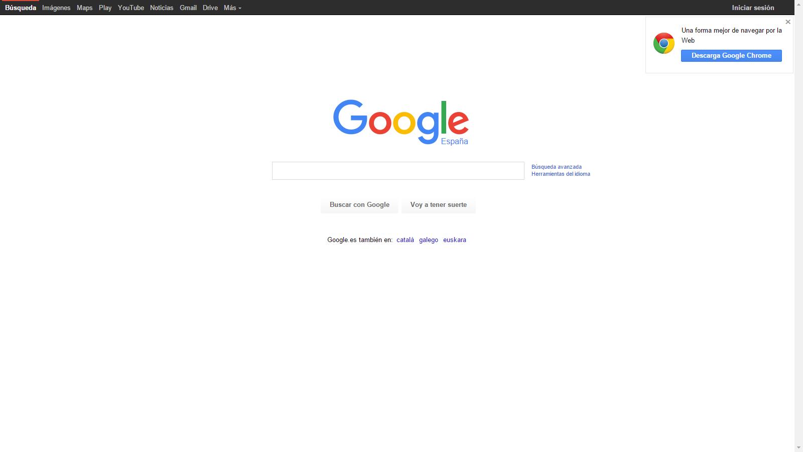 Sitio web de Google suplantado